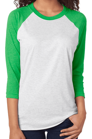 World Full Of Grinches Tri-Blend Unisex 3/4 Raglan