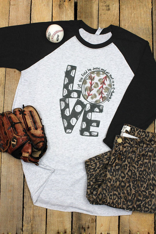 Field Be Joyful Baseball Tri-Blend Unisex 3/4 Raglan
