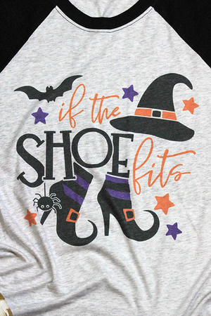 If The Shoe Fits Tri-Blend Unisex 3/4 Raglan