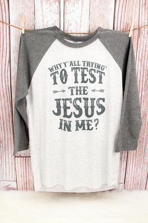 The Jesus in Me Tri-Blend Unisex 3/4 Raglan