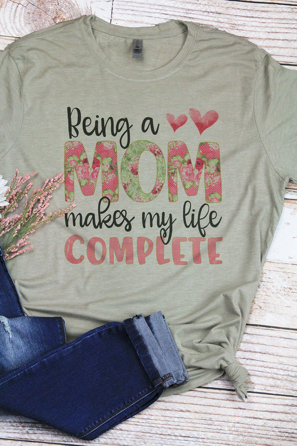 Being A Mom Poly/Cotton Tee