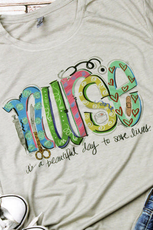 Nurse Doodle Poly/Cotton Tee