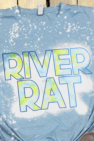Bleached River Rat Poly/Cotton Tee
