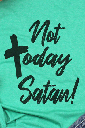 Not Today Satan Softstyle Adult T-Shirt