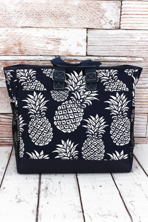 Pineapple Paradise Navy Everyday Organizer Tote