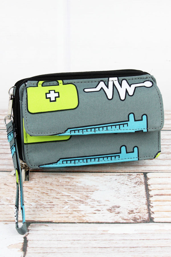 Nurse Life Crossbody Organizer Clutch