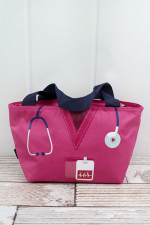NGIL Scrub Life Hot Pink Insulated Lunch Bag