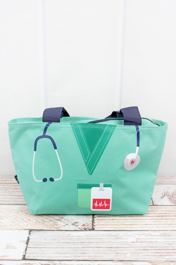 Scrub Life Mint  Insulated Lunch Bag