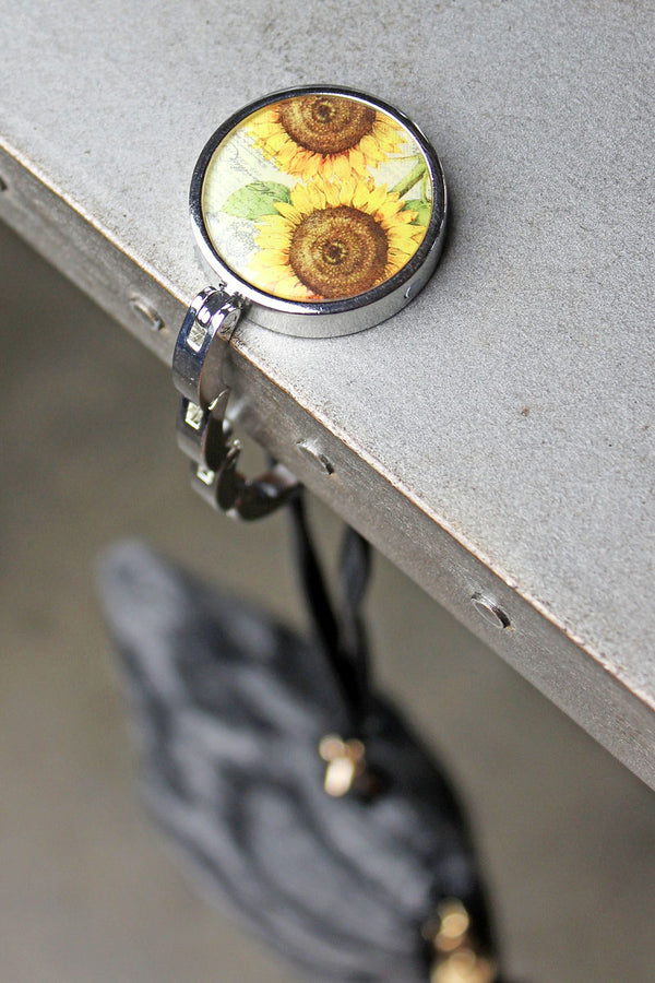 Vintage Sunflower Tabletop Purse Hanger