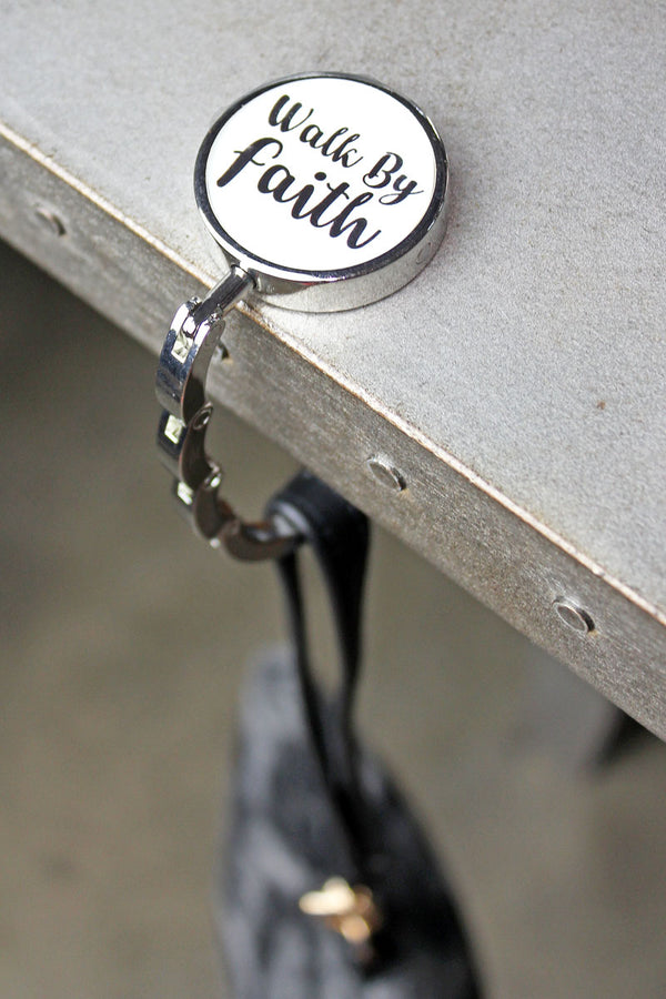 Walk By Faith Tabletop Purse Hanger