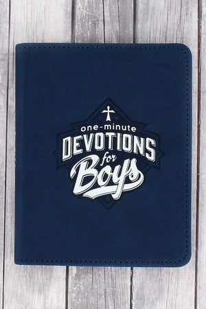 One-Minute Devotions For Boys LuxLeather Book by Jayce O'Neal #OM064