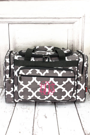 "Gray Moroccan Geometric Duffle Bag 20"" #OTG420-GRAY"