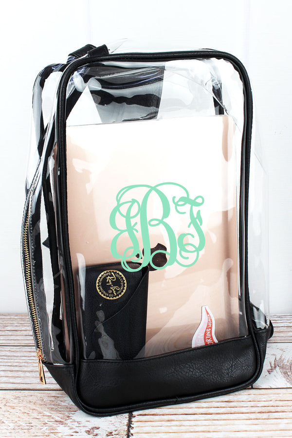 Clear Sling Backpack with Black Trim