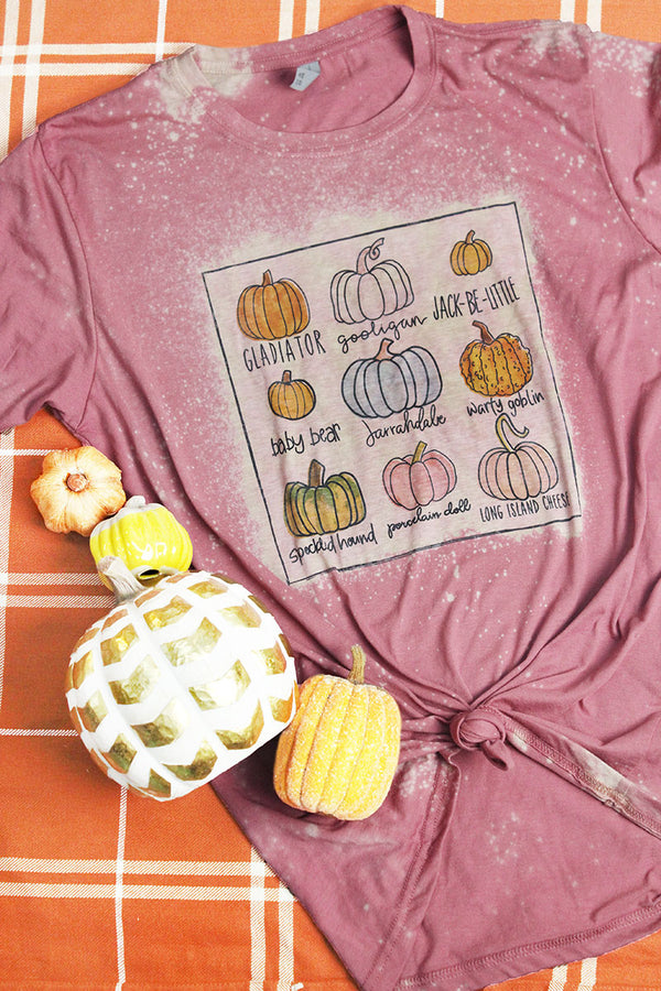 Bleached Pick Your Pumpkin Poly/Cotton Tee