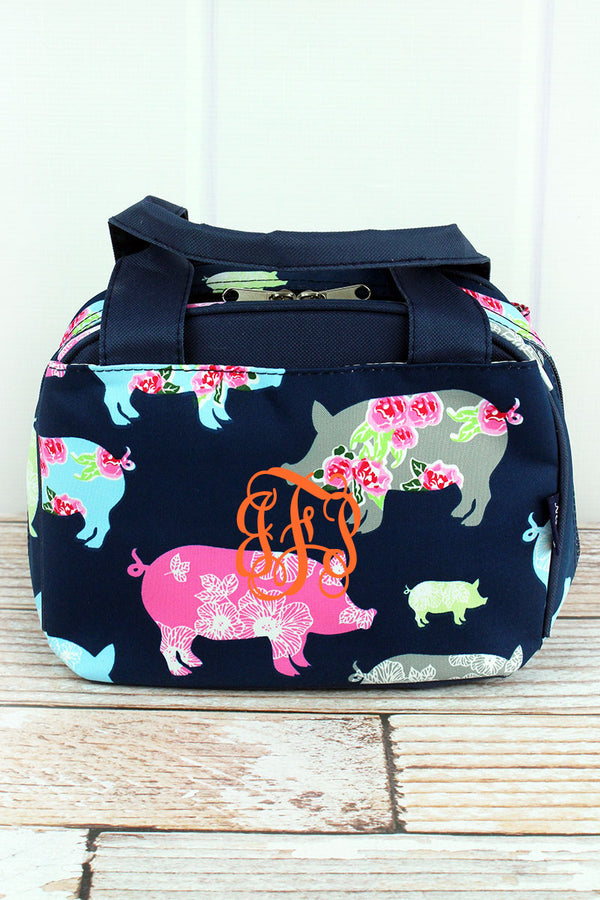 Posh Pigs Insulated Bowler Style Lunch Bag