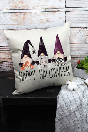 Happy Halloween Gnomes Decorative Pillow Cover