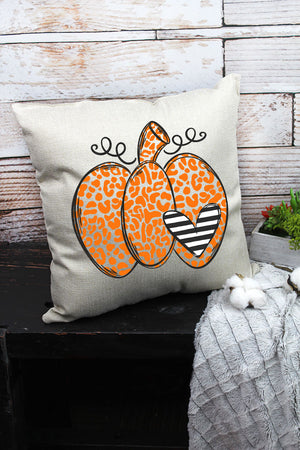 Spotted Pumpkin Heart Decorative Pillow Cover