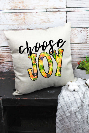 Choose Joy Decorative Pillow Cover