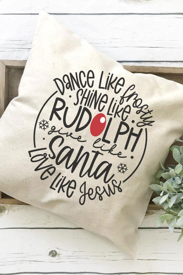 Give Like Santa Decorative Pillow Cover