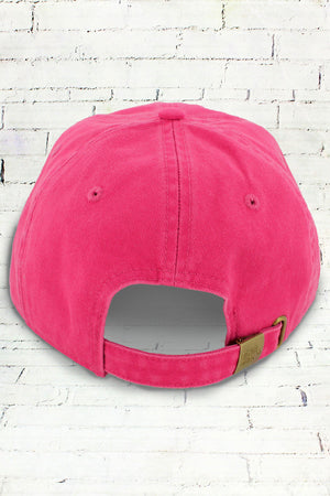 Raspberry Comfort Colors Dyed Canvas Baseball Cap