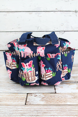 Playful Pigs Organizer Tote