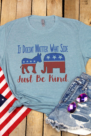 Political Just Be Kind Poly/Cotton Tee