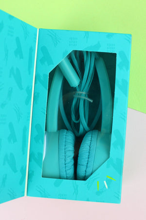 Kid's Turquoise Pop Tone Comfort Headphones
