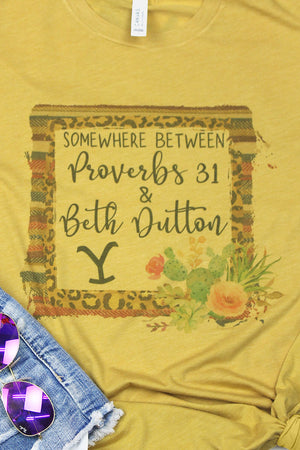 Proverbs 31 And Beth Dutton Tri-Blend Short Sleeve Tee