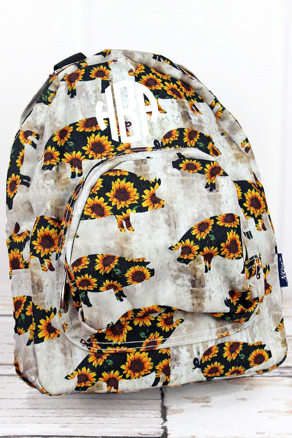 Sunflower Pig Small Backpack