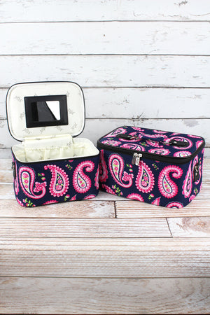 Paisley Passion 2 Piece Cosmetic Case Set
