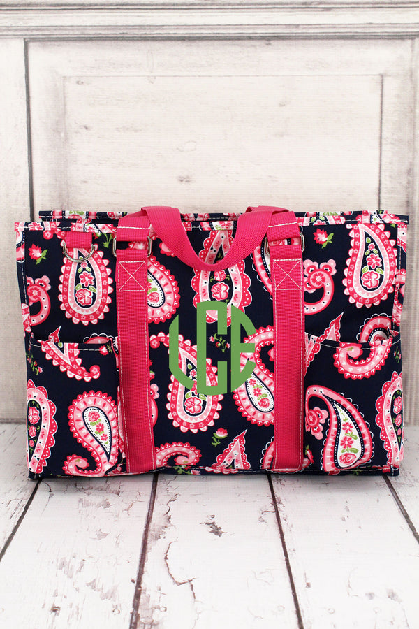 Paisley Passion Utility Tote with Hot Pink Trim #PSN731-HPINK