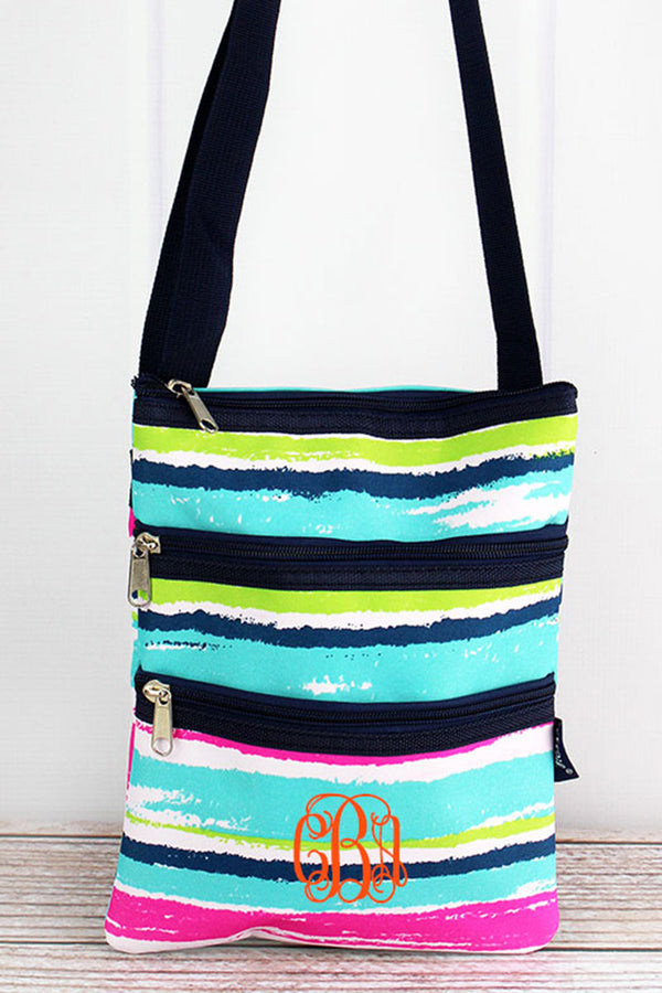 Caribbean Stripe Crossbody Bag