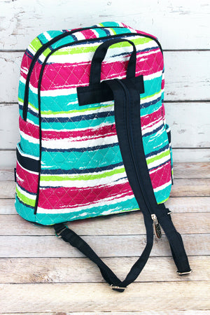 Caribbean Stripe Quilted Backpack