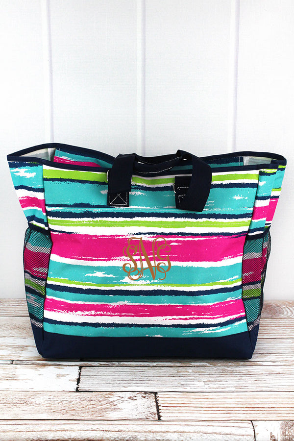 Caribbean Stripe Everyday Organizer Tote