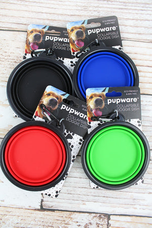 One Pupware Collapsible Silicone Doggie Dish - SHIPS ASSORTED