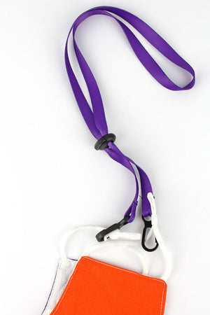 Purple Face Mask Lanyard