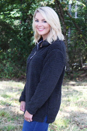 Boxercraft Charcoal Sherpa Pullover *Personalize It