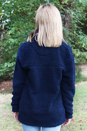 Boxercraft Navy Sherpa Pullover *Personalize It
