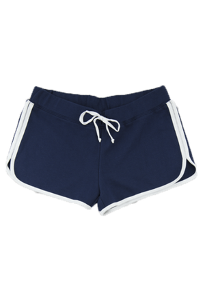 Boxercraft Ladies Relay Short, Navy and White