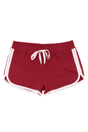 Boxercraft Ladies Relay Short, Red and White