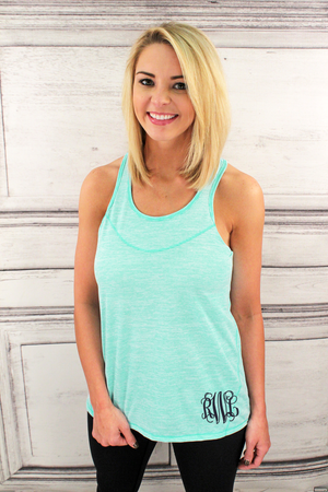 Mint Tiger Slub Tank #T81MT *Personalize It!