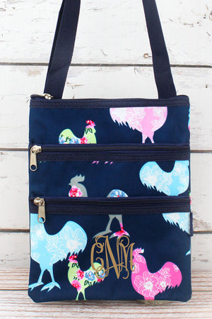 Rosy Roosters Crossbody Bag
