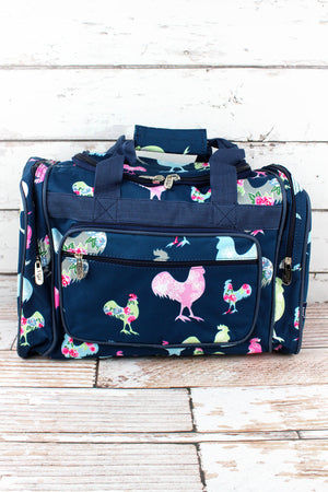 Rosy Roosters Duffle Bag 17""