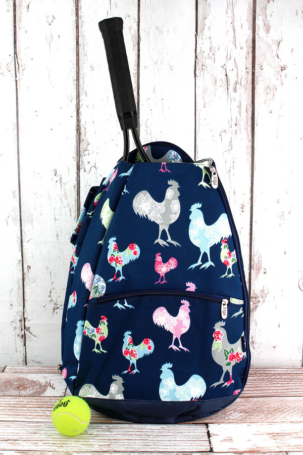 Rosy Roosters Tennis Backpack