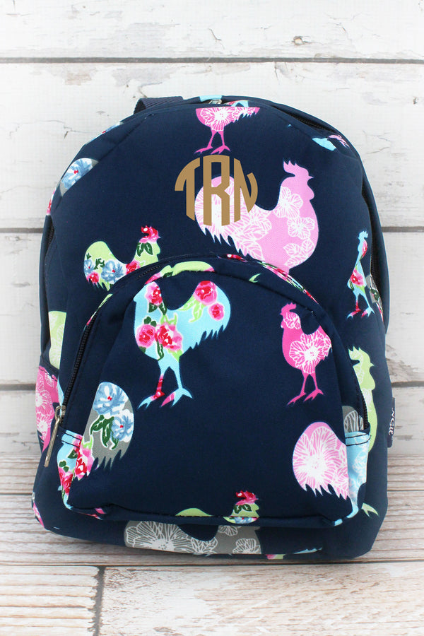 Rosy Roosters Small Backpack