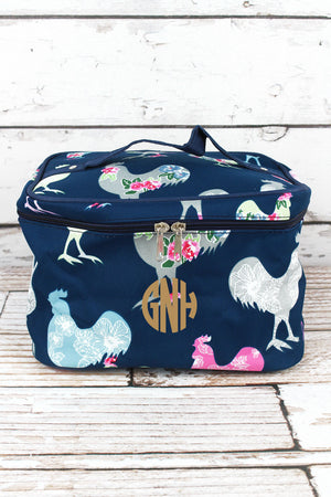 Rosy Roosters Train Case