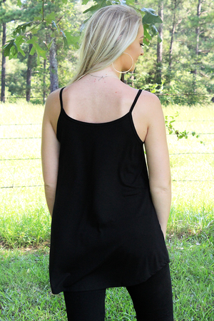Black Reversible Camisole Tank