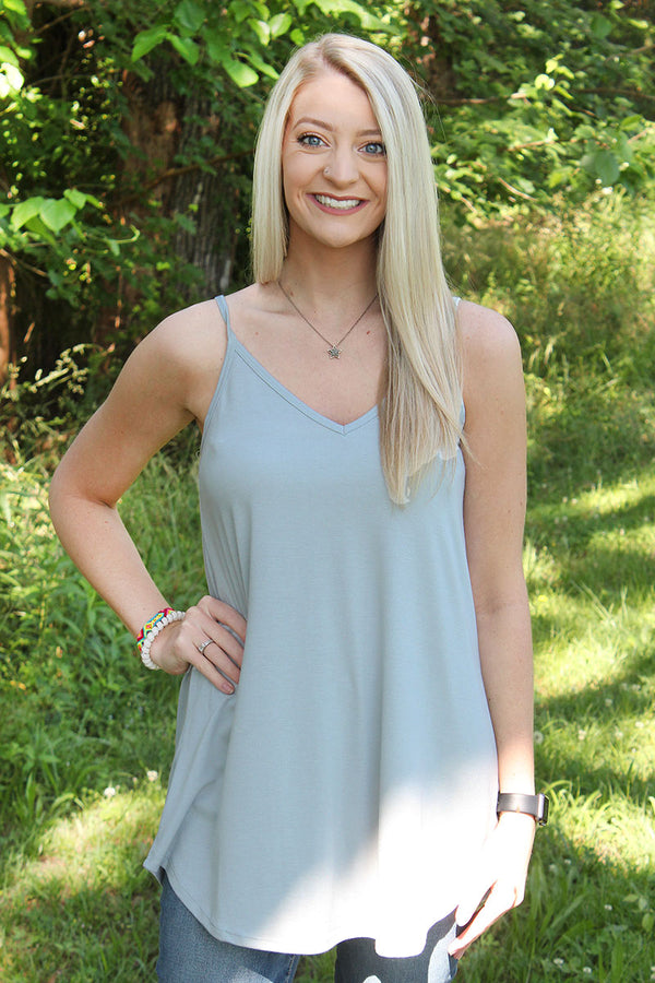 Gray Mist Reversible Camisole Tank