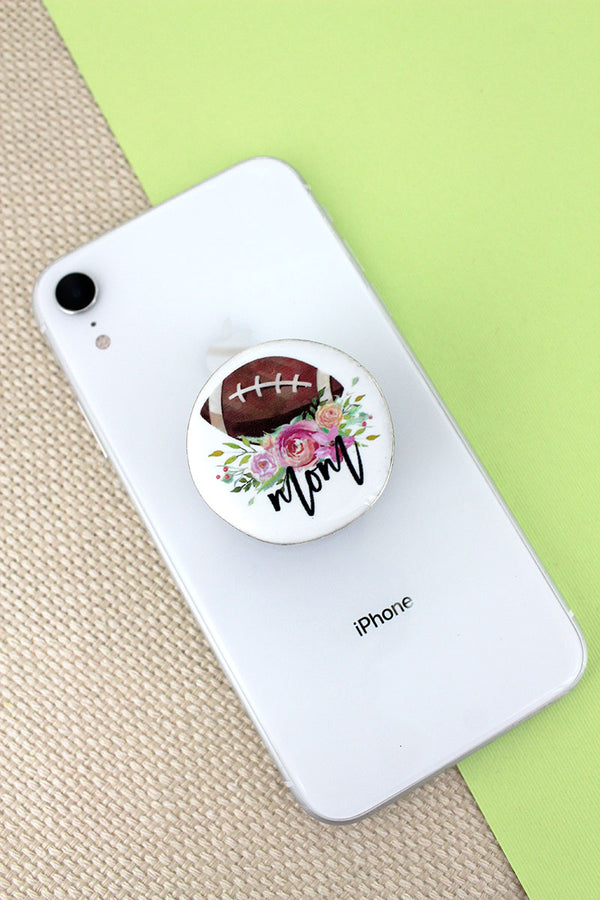 Football Mom Disk Cell Phone Grip Cover