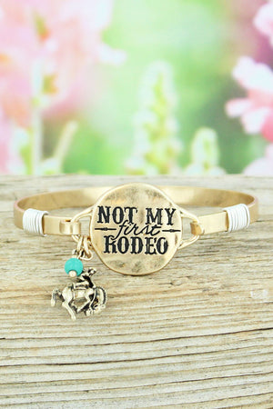 Worn Goldtone 'Not My First Rodeo' Bracelet